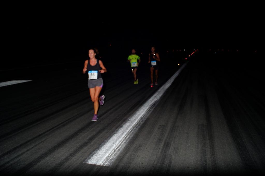 Momento de la I Carrera Nocturna Aeropuesrto Jerez