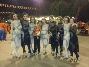 Grupo pequeño Club Patín Porriño,coreografía: trascendencia.tercer puesto trofeo internacional de Riccione,Italia(2015)